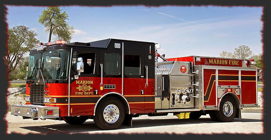 Marion In Fire Department Places Hme Top Mount Pumper