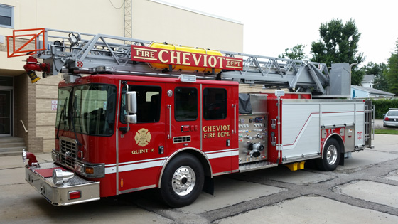 Hme Delivers Aerial To Cheviot Oh Fire Department Hme