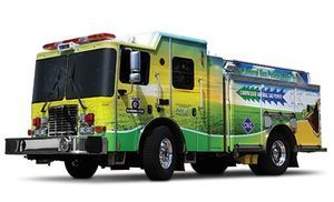 2010 – The first compressed natural gas powered fire truck HME CNG