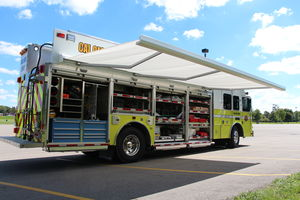 Hazmat Open storage with awning open